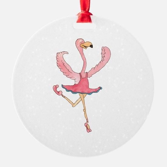Ballerina Flamingo Ornament