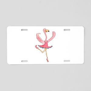 Ballerina Flamingo Aluminum License Plate