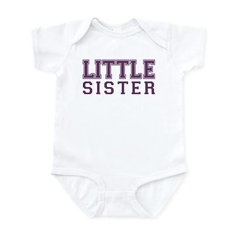 little sister varsity Infant Bodysuit