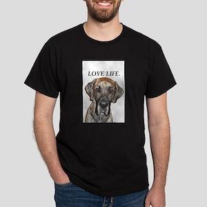 Great Dane Jamie Love Life Dark T-Shirt