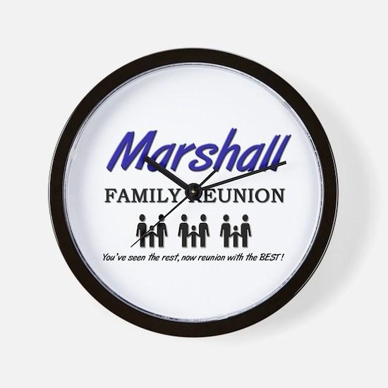 Marshall Family Reunion Wall Clock