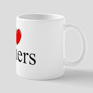 """I Love (Heart) Boners"" Mug"