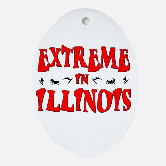 Extreme Illinois Oval Ornament