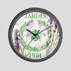 bee lavender french country Wall Clock