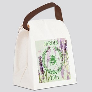 bee lavender french country Canvas Lunch Bag