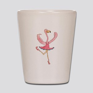 Ballerina Flamingo Shot Glass