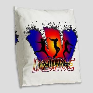 Dance Burlap Throw Pillow
