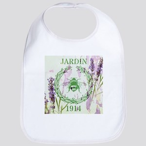 bee lavender french country Bib