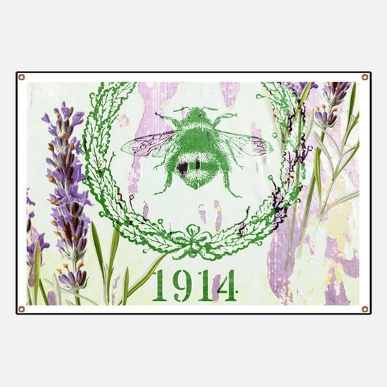 bee lavender french country Banner