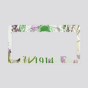 bee lavender french country License Plate Holder