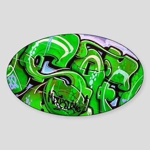 Back Street Sticker (Oval)