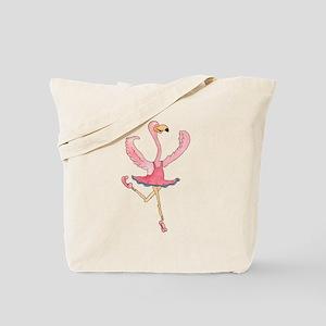 Ballerina Flamingo Tote Bag