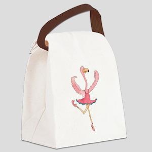Ballerina Flamingo Canvas Lunch Bag