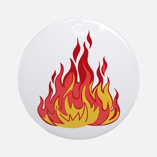 FIRE FLAMES Ornament (Round)