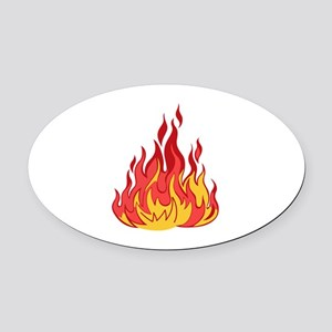 FIRE FLAMES Oval Car Magnet