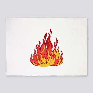 FIRE FLAMES 5'x7'Area Rug