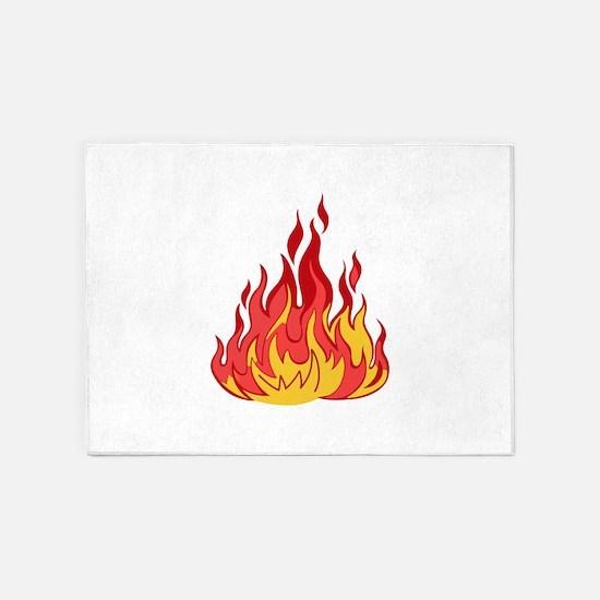 FIRE FLAMES 5'x7'Area Rug