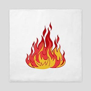FIRE FLAMES Queen Duvet