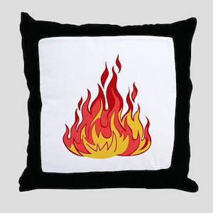 FIRE FLAMES Throw Pillow