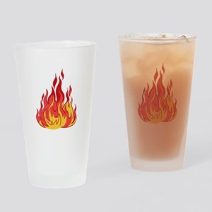 FIRE FLAMES Drinking Glass
