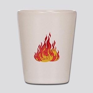 FIRE FLAMES Shot Glass