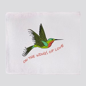 ON THE WINGS OF LOVE Throw Blanket