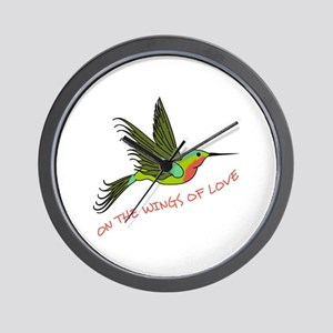 ON THE WINGS OF LOVE Wall Clock
