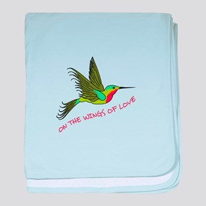 ON THE WINGS OF LOVE baby blanket