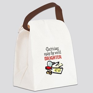 MAKE WORLD BRIGHTER Canvas Lunch Bag