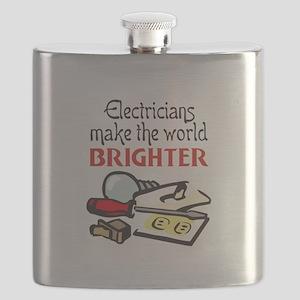 MAKE WORLD BRIGHTER Flask