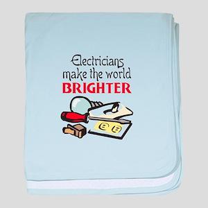 MAKE WORLD BRIGHTER baby blanket