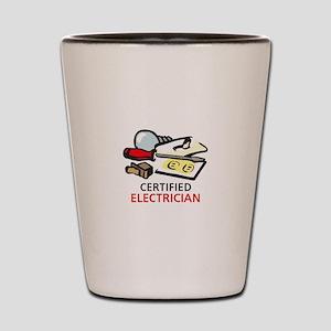 CERTIFIED ELECTRICIAN Shot Glass