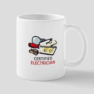 CERTIFIED ELECTRICIAN Mugs