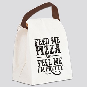 Feed Me Pretty Canvas Lunch Bag