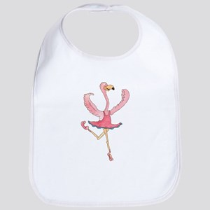 Ballerina Flamingo Bib