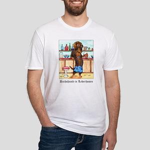 Wirehair Weiner Lederhosen Fitted T-Shirt