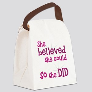 She Believed She Could - So She D Canvas Lunch Bag