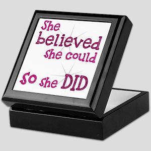 She Believed She Could - So She Did Keepsake Box