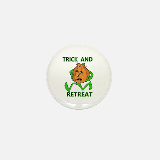 Halloween Trick & Retreat pumpkin Mini Button