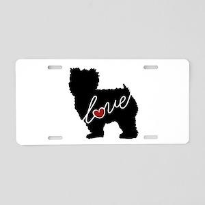 Yorkiepoo Love Aluminum License Plate