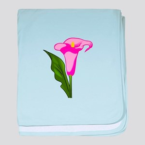 CALLA LILY FLOWER baby blanket