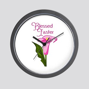 BLESSED EASTER Wall Clock