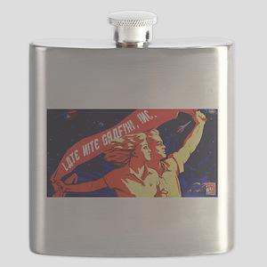 Late Nite Grafix Banner of International Gra Flask