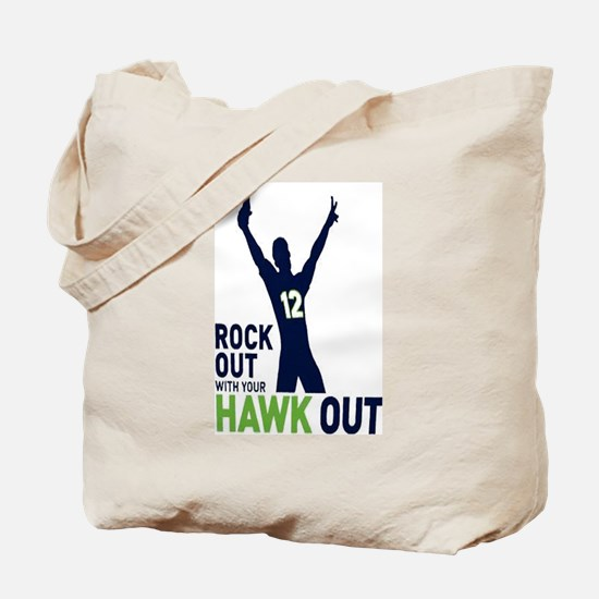 Rock Out Hawk Out Tote Bag