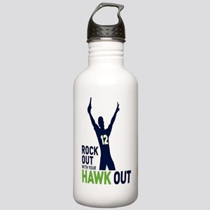 Rock Out Hawk Out Stainless Water Bottle 1.0L