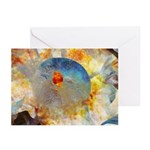 Blue Puffball Greeting Cards (Pack of 6)
