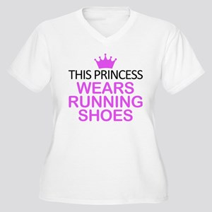 Running Shoes Pri Women's Plus Size V-Neck T-Shirt