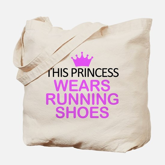 Running Shoes Princess Tote Bag
