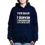 Neteran with no regrets Women's Hooded Sweatshirt