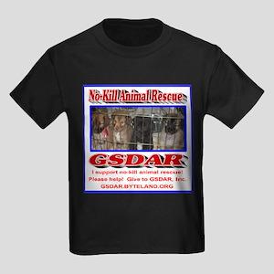 Support GSDAR No-Kill Animal Res Kids Dark T-Shirt